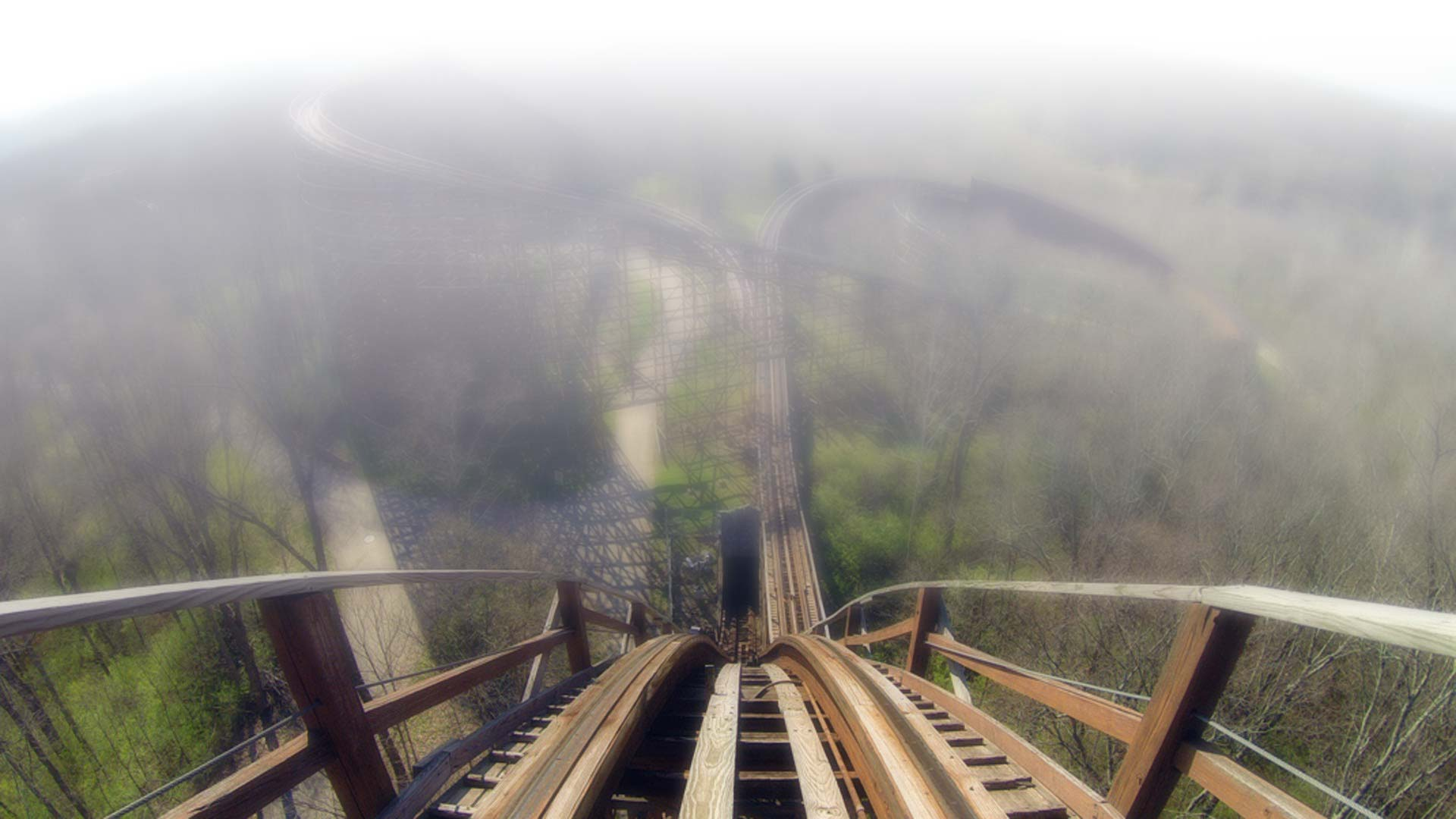 Roller-coaster-down-view blurred - Lewy Body Dementia