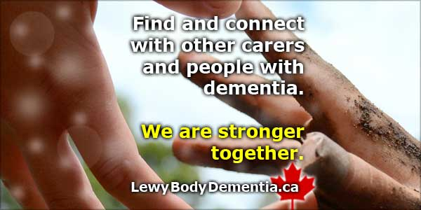 Connect with other care partners and others with Lewy Body Dementia