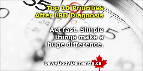 Top 10 Priorities After Lewy Body Dementia Diagnosis