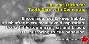 Tooth Care for Dementia. Help with brushing. Info/graphic