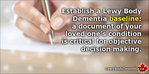 Keep A Lewy Body Dementia Baseline to Make Better Decisions -- info/graphic